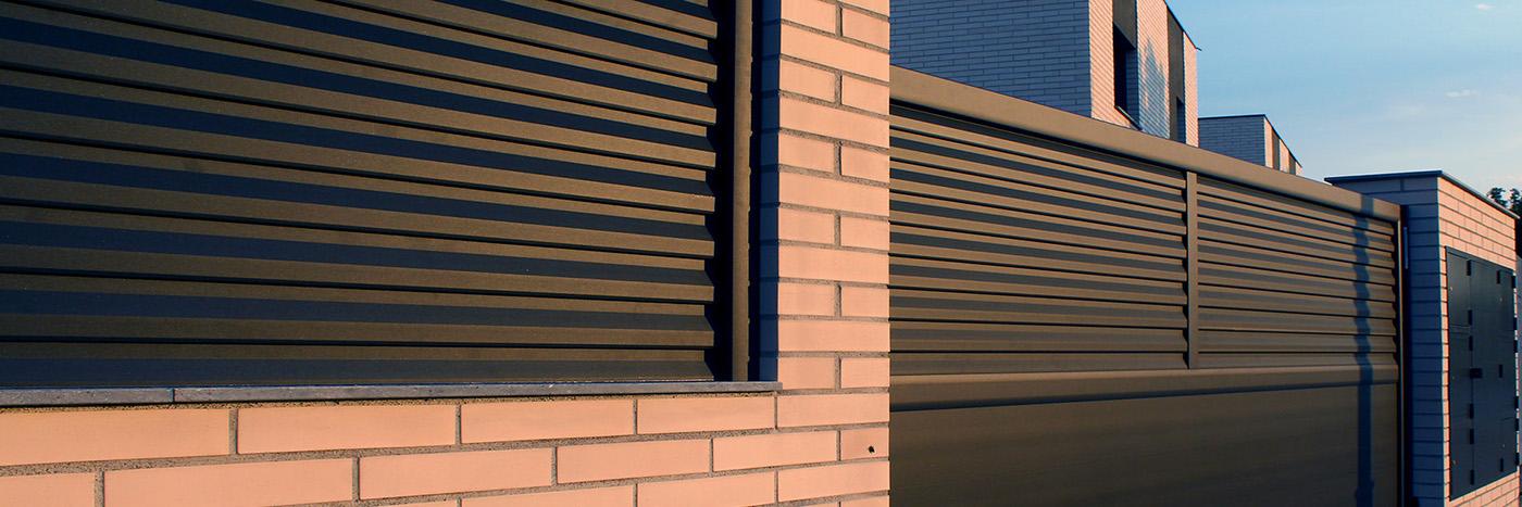 Cancelas y vallas de jard n en aluminio puertas zenox - Puertas metalicas jardin ...