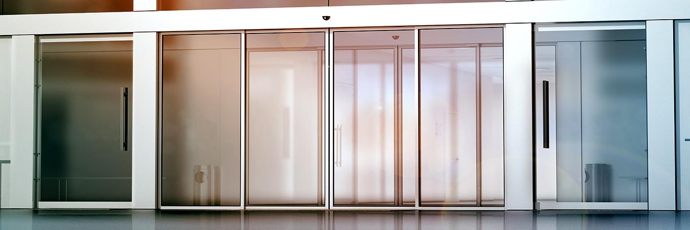 Puerta de cristal automática