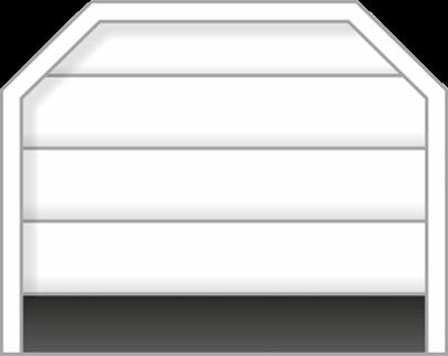 Forma achaflanada puerta seccional