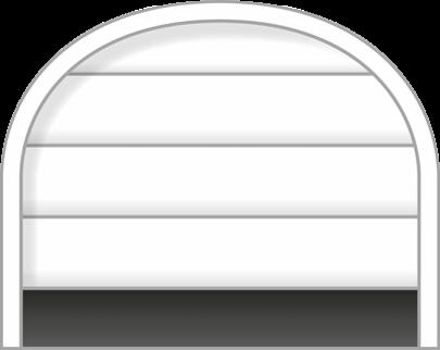 Forma arco puerta seccional